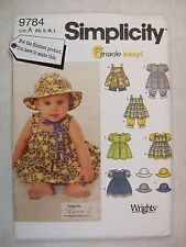 Baby Dresses Panties etc Sewing Pattern Simplicity 9784 See Full Listing Info