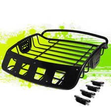 "ADJUSTABLE 39""X38.5""X8"" HEAVY DUTY MILD STEEL ROOF CARGO BASKET LUGGAGE CARRIER"