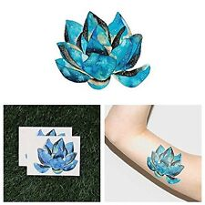 Tattify Watercolor Lotus Flower Temporary Tattoo - Victory of the Spirit Set of
