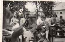EA318 Photographie vintage photo snapshot fille coiffure mode couture
