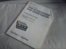 Vintage Genuine Sony VPH-1272Q Multiscan CRT Video Projector Instruction Manual
