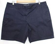 URBANE ~ Dark Blue Stretch Cotton Casual Summer Shorts 16