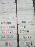1943 211) LOTTO DOCUMENTI DI TASSE CON RARE MARCHE DA BOLLO USATE DURANTE R.S.I.