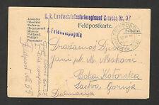 WWI-GERMANY-AUSTRIA-HUNGARY-MONTENEGRO-BOSNIA-FELDPOST CENSORED POSTCARD-1915.