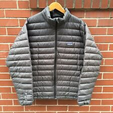 Patagonia Down Sweater Jacket Grey Black Large (Men's) Puffy Puffer Coat