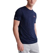Superdry Herren Training Tee Sport Shirt T-Shirt MS300071A blau