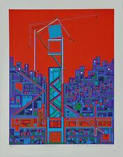 CITY #371 Architecture Translated to Beautiful Art; Serigraph By Risaboro Kimura