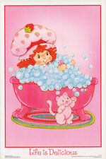 LOT OF 2 POSTERS: STRAWBERRY SHORTCAKE - SMOOTH - LIFE IS ...   #FL3321S   RW8 K