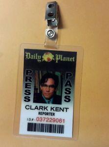 Superman Lois & Clark ID Badge-Clark Kent Reporter cosplay prop costume