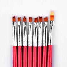 8 tlg. Nail Art Pinsel Set für Ombre Babyboomer Kammpinsel TZB45