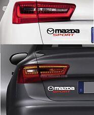 Para Mazda-Mazda Sport-Coche Decal Sticker encaja 2 3 6 MX-5 RX-8 195 Mm x 45 mm