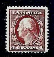 US #334  MNH OG ~1908 Brown 4c Perf 12X12 Double-Line Watermark.....[MC1]