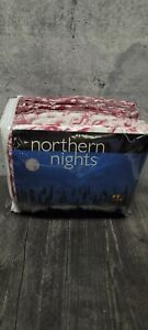 Vintage 2008 QVC Northern Nights 100% Cotton Red Floral Flannel Queen Sheet Set
