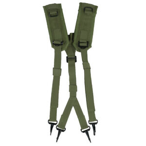 TACTICAL LC2 ALICE BELT SUSPENDERS SHOULDER HARNESS ARMY MILITARY COMBAT OLIVE