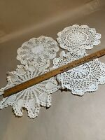vintage hand made crochet doilies Lot Of 4 M-2