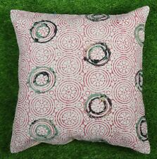 Bohemian Dari Cotton Cushion Cover Embroidered Decorative Throw Red Pillow Cover
