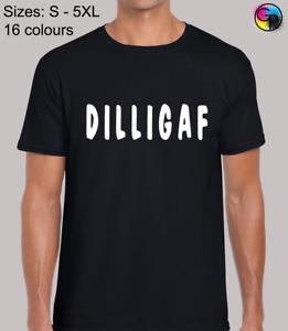 Dilligaf Funny Novelty Humour Regular Size Fit T-Shirt Top TShirt Tee for Men