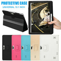 Universal 10/10.1 Inch Folio Leather Stand Cover Case For Android Tablet PC