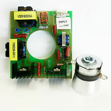 60W 40KHz Ultrasonic Cleaning Transducer Cleaner +Power Driver Board 110V AC