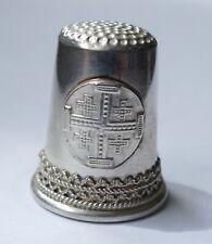 Fingerhut mit Jerusalemkreuz Silber 925 Israel thimble silver