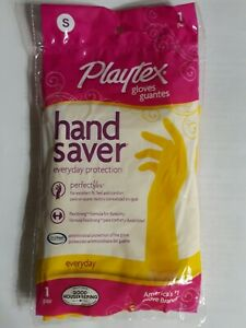 Packs Playtex Hand Saver Gloves One Pair Size SMALL Everyday Protection, 1ct