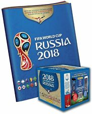 2018 Panini Russia FIFA World Cup Soccer Sticker Bundle with 50 Pack Box and Sticker Album