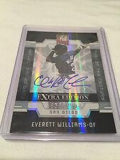 2009 Donruss Elite Extra Edition Everett Williams San Diego Padres autograph #'d