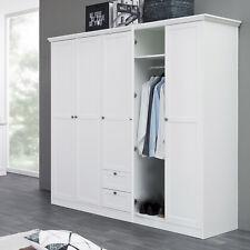 Kleiderschrank Landwood Drehtürenschrank Schrank in weiß 5-türig Landhausstil
