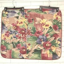 Croscill Watercolor Pansies Standard Quilted Pillow Sham Purple Maroon Floral