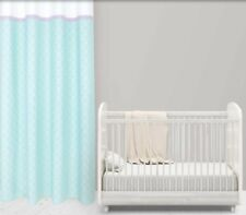 RING TOP CURTAINS - 100% COTTON -L170xW135cm -(66x53ins) -DUCK-EGG -By KRAFTKIDS