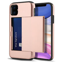 For iPhone 11 Pro X XR XS Max Caseswill Shockproof Card Slot Wallet Case Cover