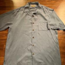 Tommy Bahama L Light Blue Short Sleeve Button Up Shirt