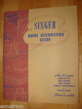 Singer Sewing Machine Co. Home Decoration Guide 1943 manual color chart