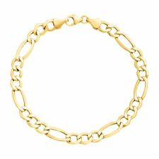 Eternity Gold Men's Figaro Link Chain Bracelet in 14K Gold