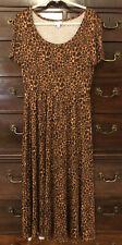 New LuLaRoe Riley Midi Dress~ Size Large ~ Brown Leopard Spots ~Slinky Animal 🐆