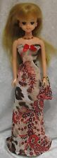 TAKARA JENNY Licca Doll Clothes #18 Handmade Dress, Purse & Beaded Necklace Set