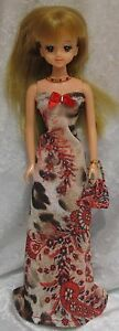 Made to fit TAKARA JENNY Licca #18 Dress, Purse, Necklace, Handmade doll clothes