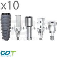 10 Implantation Set For Conical RP, Active Hex, Dental Implants GDT Brand