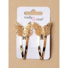 NEW Gold gilt filigree butterfly sleepies hair clip womens childrens fashion