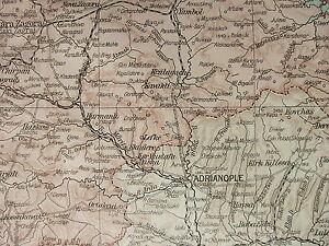 1919 LARGE MAP ~ BULGARIA ~ PLOVDIV SLIVNO RUSCHUK SOFIA