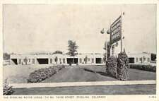Sterling Colorado Motor Lodge Street View Antique Postcard K83644
