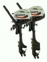Mariner 2.5 Four Stroke short Shaft Outboard Motor New FREE UK MAINLAND DELIVERY