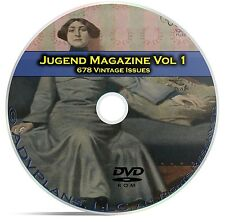 Jugend, Classic German Art Nouveau Magazine Jugendstil, 678 Issues Vol 1 DVD C24