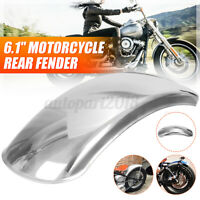6.1'' Flat Motorcycle Rear Fender Mudguard Stainless Steel For Chopper Chrome