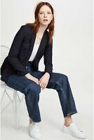 Veronica Beard Classic Dickey jacket blazer size 2 dark navy blue