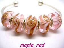 Fashion Whirlpool Lampwork Glass Big Hole Beads Fit European Charm Bracelet