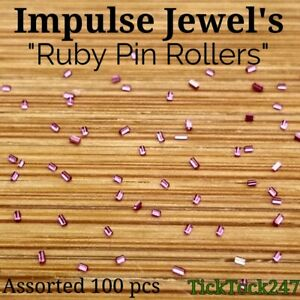 Watch Roller impulse jewels repair pin ruby watchmakers parts Vintage x 100 Mix