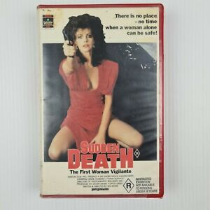 Sudden Death - VHS Tape - RCA Columbia Pictures - Revenge Horror - TRACKED POST