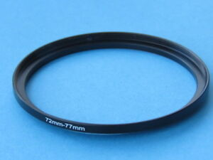 72mm to 77mm Step Up Step-Up Ring Camera Filter Adapter Ring 72-77mm