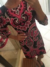 INC International Concepts Printed Sheath Dress Sizes M $79.50 Pink Black Pais